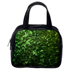 Bright Jade Green Jewelry Mother of Pearl Classic Handbags (One Side)