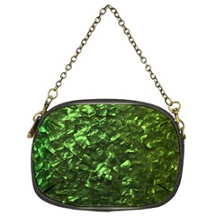 Bright Jade Green Jewelry Mother of Pearl Chain Purses (Two Sides)