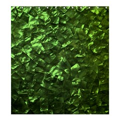 Bright Jade Green Jewelry Mother of Pearl Shower Curtain 66  x 72  (Large)