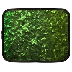 Bright Jade Green Jewelry Mother of Pearl Netbook Case (XXL)