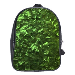 Bright Jade Green Jewelry Mother of Pearl School Bags(Large)