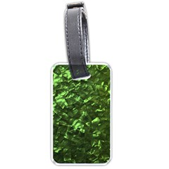 Bright Jade Green Jewelry Mother of Pearl Luggage Tags (Two Sides)