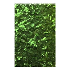 Bright Jade Green Jewelry Mother of Pearl Shower Curtain 48  x 72  (Small)