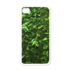 Bright Jade Green Jewelry Mother of Pearl Apple iPhone 4 Case (White)