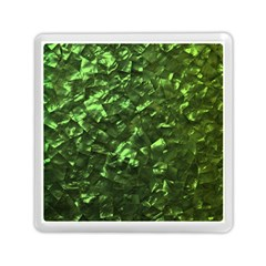 Bright Jade Green Jewelry Mother of Pearl Memory Card Reader (Square)