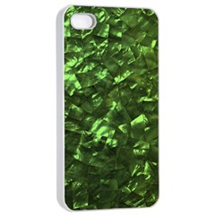 Bright Jade Green Jewelry Mother of Pearl Apple iPhone 4/4s Seamless Case (White)