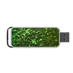 Bright Jade Green Jewelry Mother of Pearl Portable USB Flash (One Side)