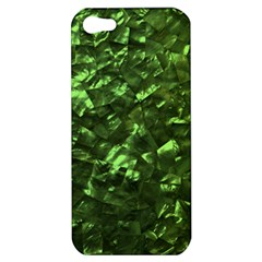 Bright Jade Green Jewelry Mother of Pearl Apple iPhone 5 Hardshell Case