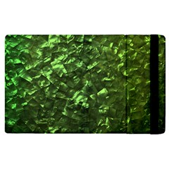 Bright Jade Green Jewelry Mother of Pearl Apple iPad 3/4 Flip Case