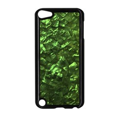 Bright Jade Green Jewelry Mother of Pearl Apple iPod Touch 5 Case (Black)