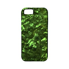 Bright Jade Green Jewelry Mother of Pearl Apple iPhone 5 Classic Hardshell Case (PC+Silicone)