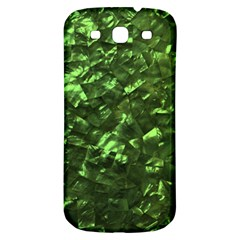 Bright Jade Green Jewelry Mother of Pearl Samsung Galaxy S3 S III Classic Hardshell Back Case