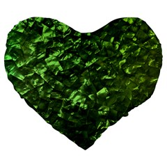 Bright Jade Green Jewelry Mother of Pearl Large 19  Premium Heart Shape Cushions