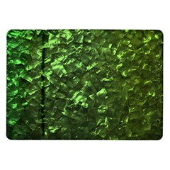 Bright Jade Green Jewelry Mother of Pearl Samsung Galaxy Tab 10.1  P7500 Flip Case