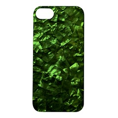 Bright Jade Green Jewelry Mother of Pearl Apple iPhone 5S/ SE Hardshell Case