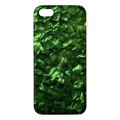 Bright Jade Green Jewelry Mother of Pearl iPhone 5S/ SE Premium Hardshell Case