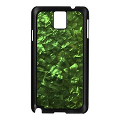 Bright Jade Green Jewelry Mother of Pearl Samsung Galaxy Note 3 N9005 Case (Black)
