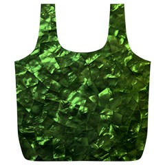 Bright Jade Green Jewelry Mother of Pearl Full Print Recycle Bags (L)