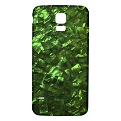Bright Jade Green Jewelry Mother of Pearl Samsung Galaxy S5 Back Case (White)