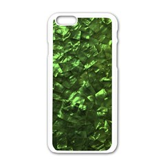 Bright Jade Green Jewelry Mother of Pearl Apple iPhone 6/6S White Enamel Case