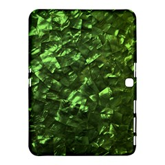 Bright Jade Green Jewelry Mother of Pearl Samsung Galaxy Tab 4 (10.1 ) Hardshell Case