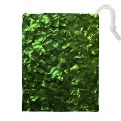 Bright Jade Green Jewelry Mother of Pearl Drawstring Pouches (XXL)