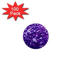 Natural Shimmering Purple Amethyst Mother of Pearl Nacre 1  Mini Magnets (100 pack)