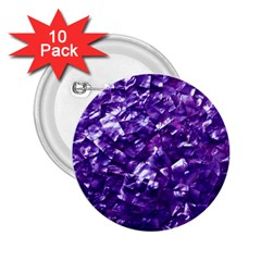 Natural Shimmering Purple Amethyst Mother of Pearl Nacre 2.25  Buttons (10 pack)