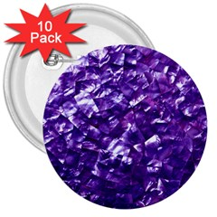Natural Shimmering Purple Amethyst Mother of Pearl Nacre 3  Buttons (10 pack)