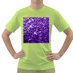 Natural Shimmering Purple Amethyst Mother of Pearl Nacre Green T-Shirt