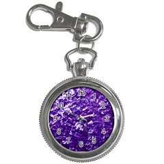 Natural Shimmering Purple Amethyst Mother of Pearl Nacre Key Chain Watches