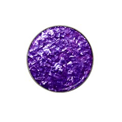 Natural Shimmering Purple Amethyst Mother of Pearl Nacre Hat Clip Ball Marker (10 pack)