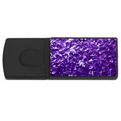 Natural Shimmering Purple Amethyst Mother of Pearl Nacre USB Flash Drive Rectangular (4 GB)