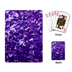 Natural Shimmering Purple Amethyst Mother of Pearl Nacre Playing Card