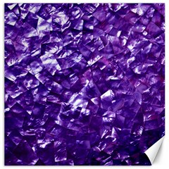 Natural Shimmering Purple Amethyst Mother of Pearl Nacre Canvas 20  x 20