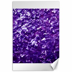 Natural Shimmering Purple Amethyst Mother of Pearl Nacre Canvas 24  x 36