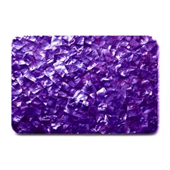 Natural Shimmering Purple Amethyst Mother of Pearl Nacre Plate Mats