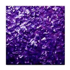 Natural Shimmering Purple Amethyst Mother of Pearl Nacre Face Towel