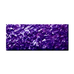 Natural Shimmering Purple Amethyst Mother of Pearl Nacre Cosmetic Storage Cases