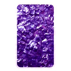 Natural Shimmering Purple Amethyst Mother of Pearl Nacre Memory Card Reader