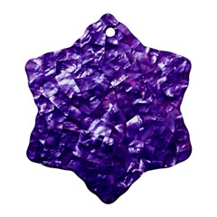 Natural Shimmering Purple Amethyst Mother of Pearl Nacre Ornament (Snowflake)