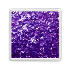 Natural Shimmering Purple Amethyst Mother of Pearl Nacre Memory Card Reader (Square)