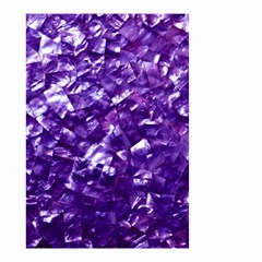 Natural Shimmering Purple Amethyst Mother of Pearl Nacre Small Garden Flag (Two Sides)