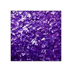 Natural Shimmering Purple Amethyst Mother of Pearl Nacre Acrylic Tangram Puzzle (4  x 4 )