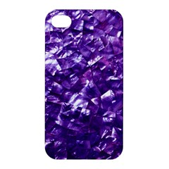 Natural Shimmering Purple Amethyst Mother of Pearl Nacre Apple iPhone 4/4S Premium Hardshell Case