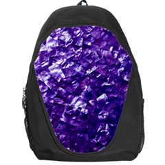 Natural Shimmering Purple Amethyst Mother of Pearl Nacre Backpack Bag