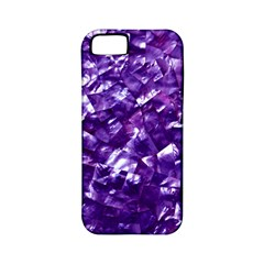Natural Shimmering Purple Amethyst Mother of Pearl Nacre Apple iPhone 5 Classic Hardshell Case (PC+Silicone)