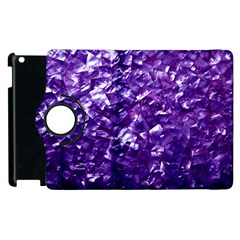 Natural Shimmering Purple Amethyst Mother of Pearl Nacre Apple iPad 2 Flip 360 Case