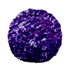 Natural Shimmering Purple Amethyst Mother of Pearl Nacre Standard 15  Premium Round Cushions