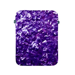 Natural Shimmering Purple Amethyst Mother of Pearl Nacre Apple iPad 2/3/4 Protective Soft Cases